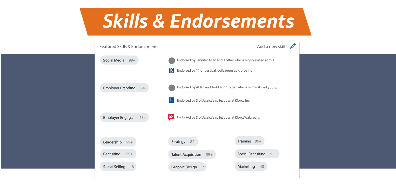 LinkedIn Tips for skills and endorsements