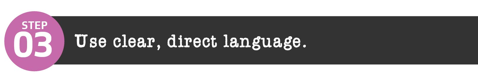 Use clear, direct language in your job description