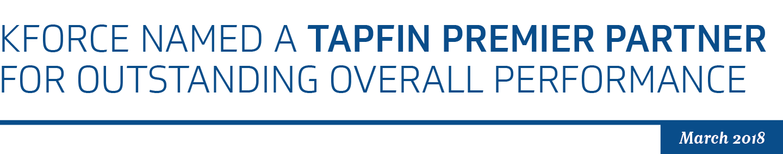 Kforce is a TAPFIN premier partner!