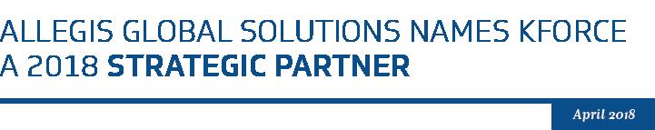2018 Strategic Partner - Kforce Named