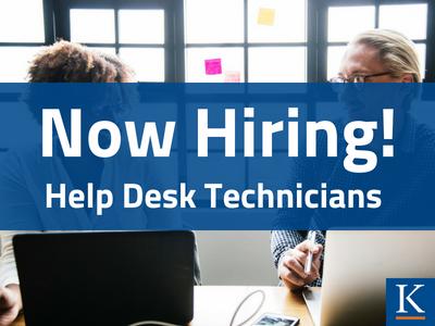 Now hiring help desk technicians!