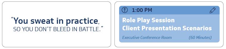 client presentation scenarios