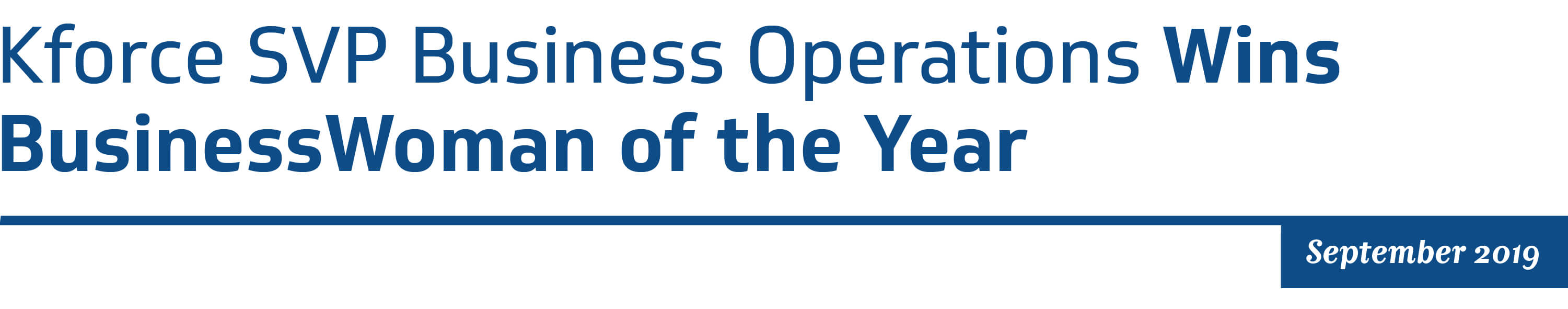 Kforce SVP Business Operations Wins BusinessWoman of the Year