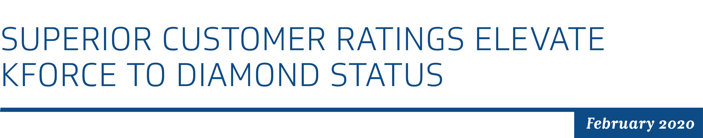 Superior Customer Ratings Elevate Kforce to Diamond Status