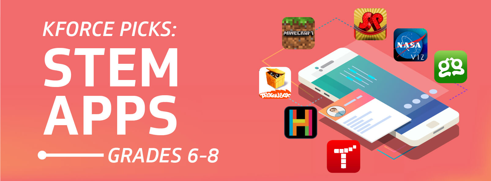 Kforce Picks Top STEM Apps Grades 6-8