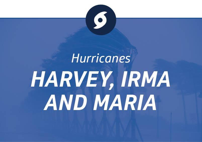 Hurricanes Harvey, Irma and Maria