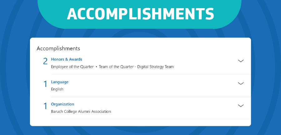 Share your accomplishments