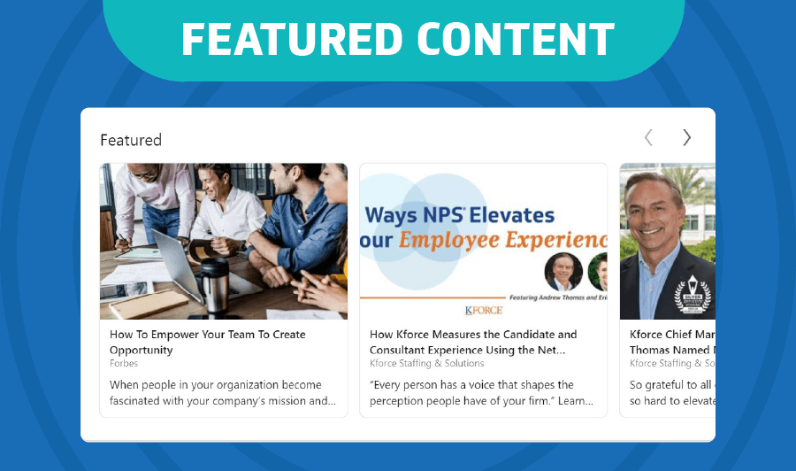 LinkedIn Featured Content