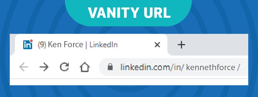 customize your vanity URL