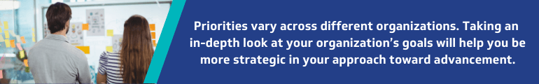 Identify what matters most to your organization and use it to your advantage