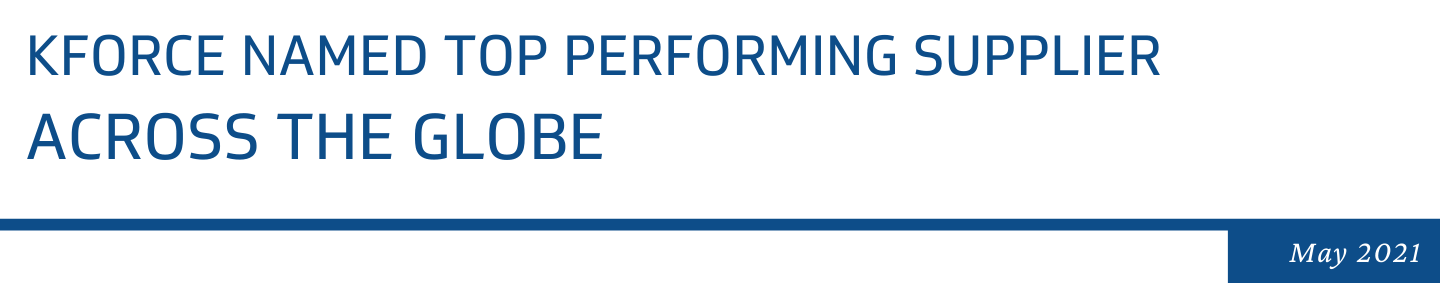 Kforce Named Top Performing Supplier Across the Globe