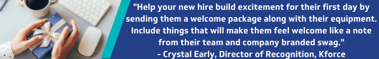 Send a new hire welcome package